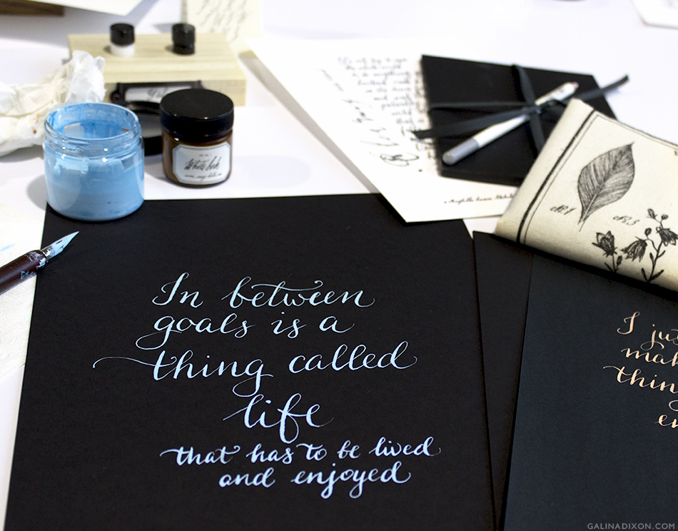 Calligraphy with Maybelle by Galina Dixon