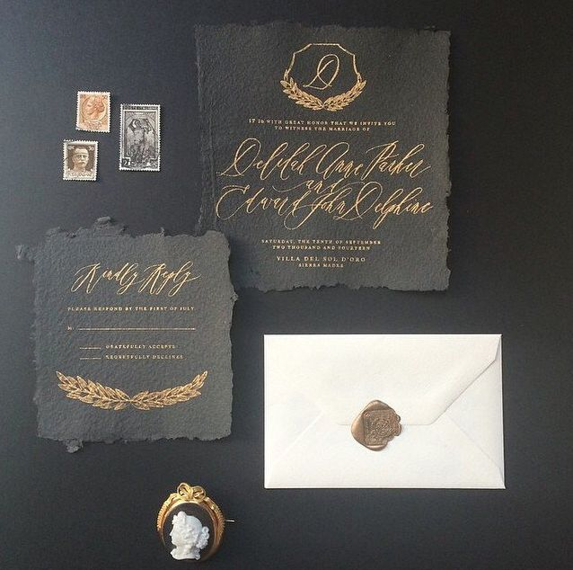 Gold Wedding Invitation Inspiration