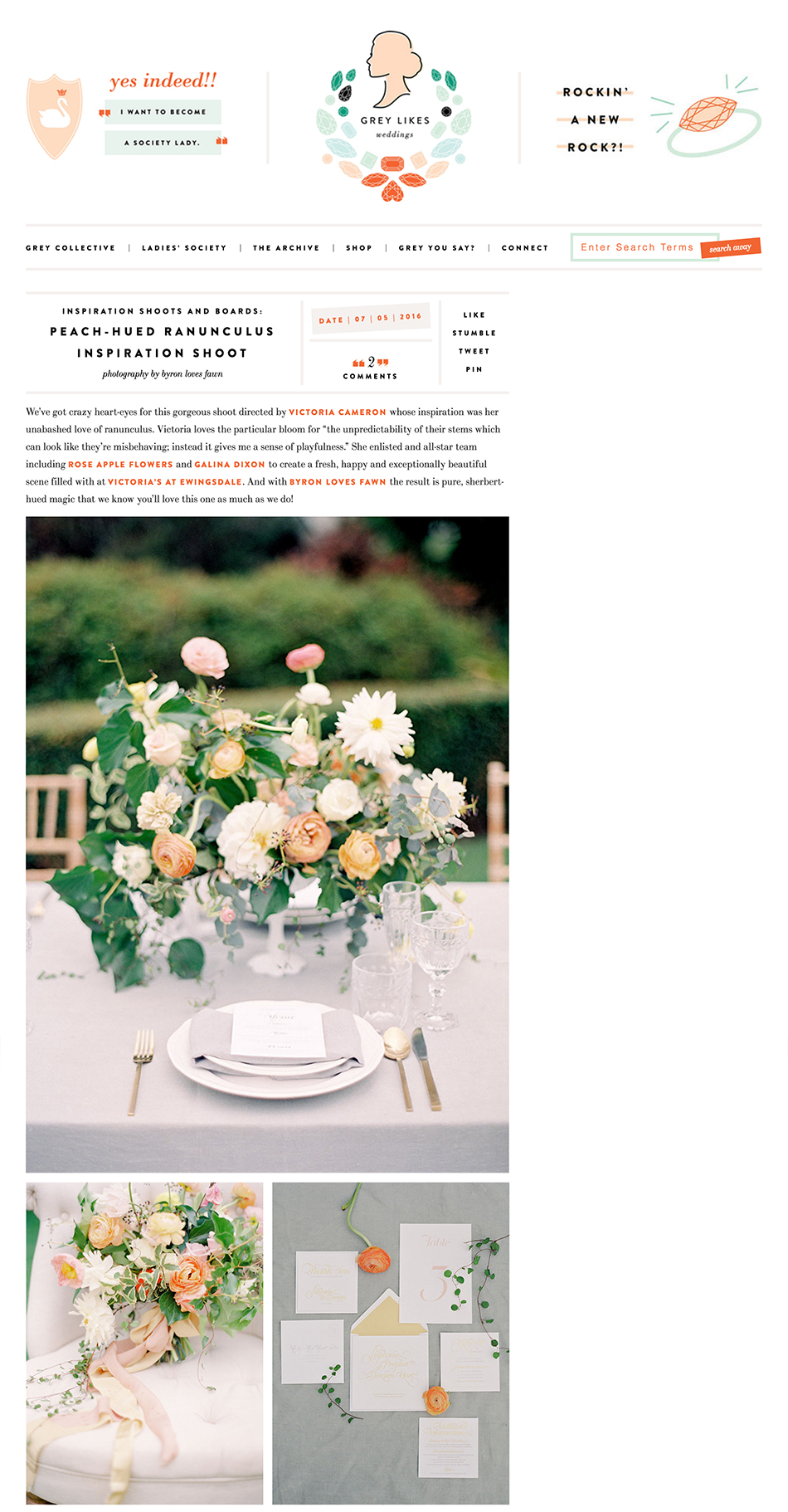 Galina Dixon on Grey Likes Weddings