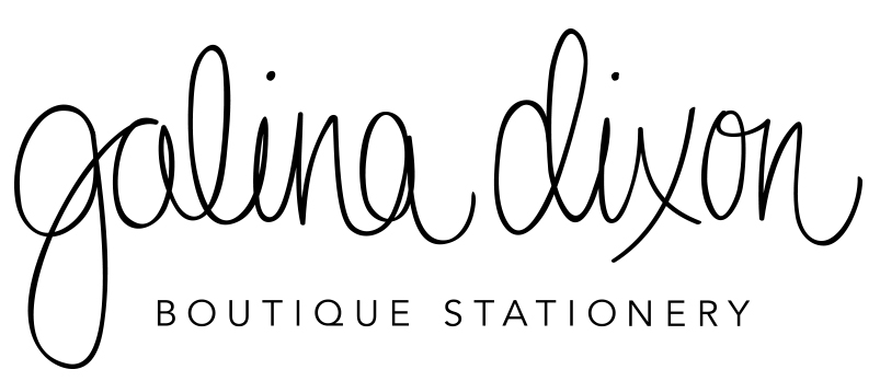 GALINA DIXON Boutique Stationery