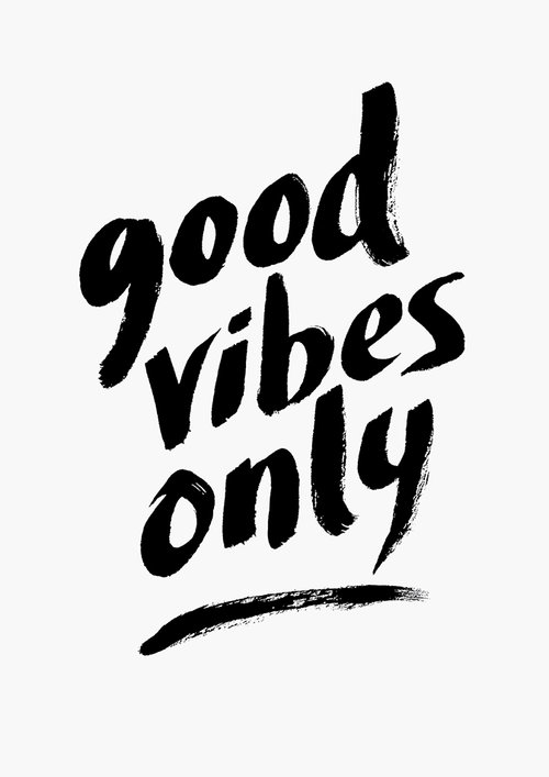 Good vibes only a4 art print