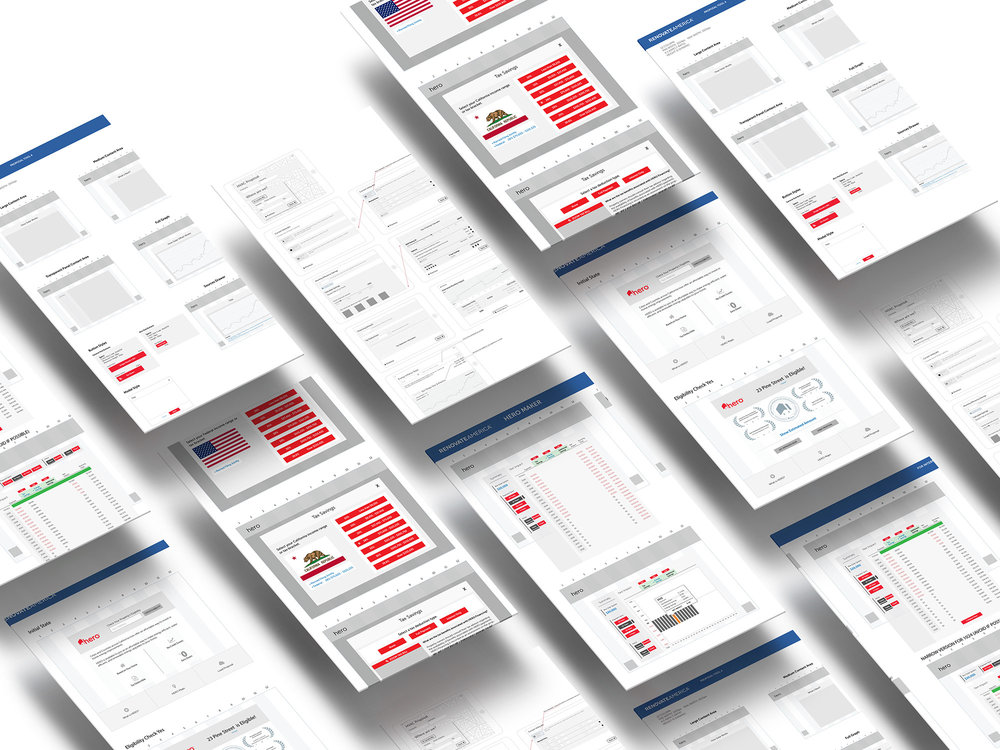 A few of the hundreds of wireframes and revisions needed to finish production.
