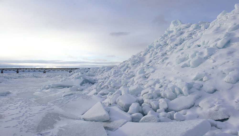 Blue Ice Pile