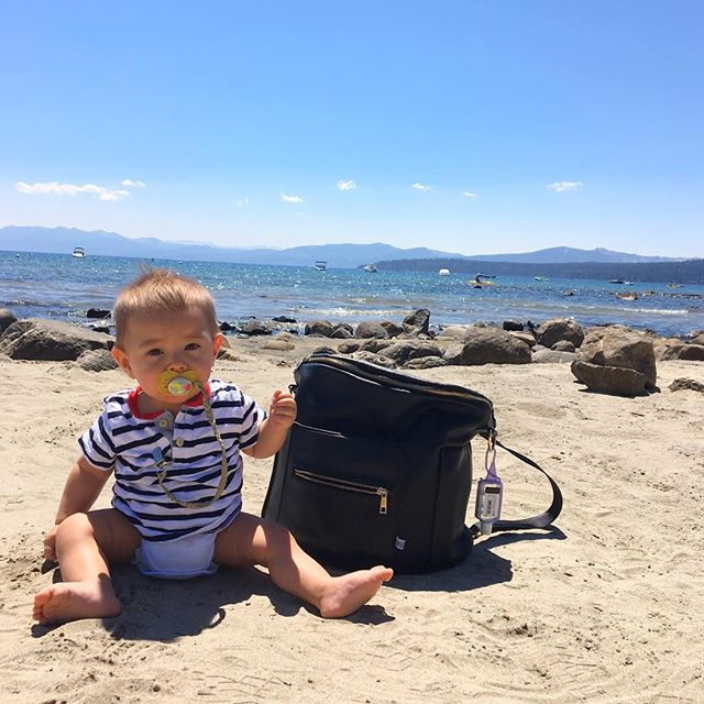 Loving the sand and the water. #laketahoe #hydereunion2016