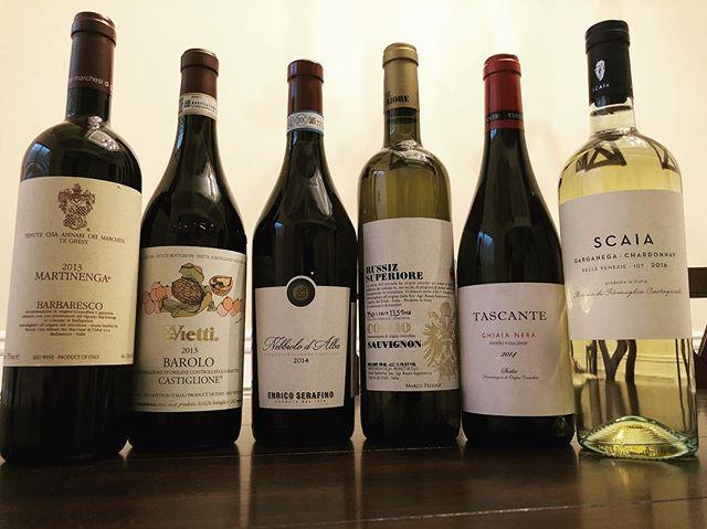 Wines to share with friends and family. Thank you #DallaTerra #barolo #barbaresco #nebbiolo #sauvignon #nerello #garganegachardonnay #garganega #marchesidigresy #vietti #enricosarafino #russizsuperiore #tascante #scaia #scaiawine #italianwines #wine #winelover #entrepreneur #family #friends #share #sharing