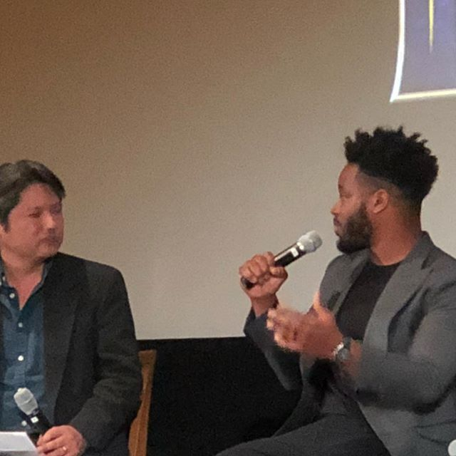 Great opportunity to attend a special Q&A screening of Black Panther with Writer and Director Ryan Coogler @ ILM. Thanks to @davidwvalentin of @mr.smithstudios and the Visual Effects Society Bay Area Section for putting together a great event. #blackpanther #wakanda #ilm #disney #visualeffects #ves #satisfactionist #ryancoogler #oakland
