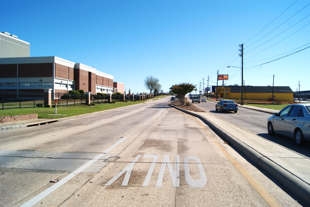 Hardy Street in front of the University of Southern Mississippi campus. October 30, 2014, Hattiesburg, Miss.