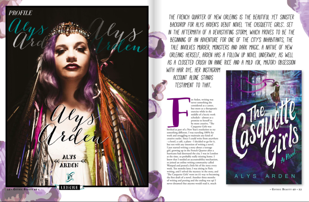 Alys Arden Gothic Beauty Magazine