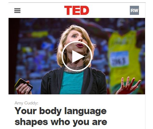 Amy Cuddy TED Talk video