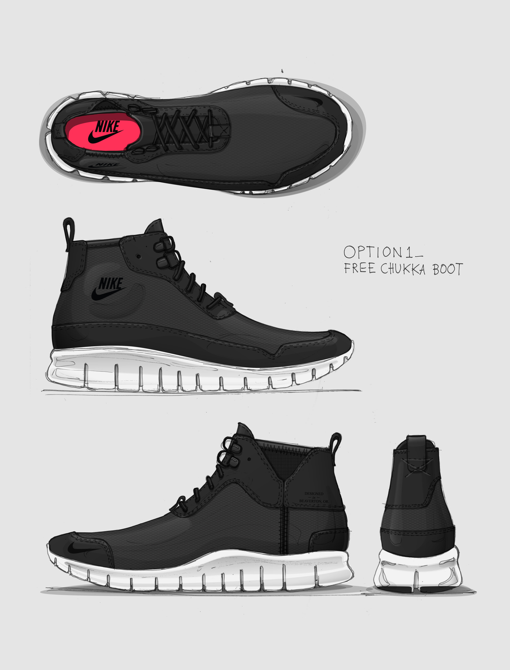 Boot design by nike - I Took Photos Of A Taped Up Last And Sketched Directly Over It To Translate Doodles To Designs With Authentic Proportion These Sketches Led To Three Design