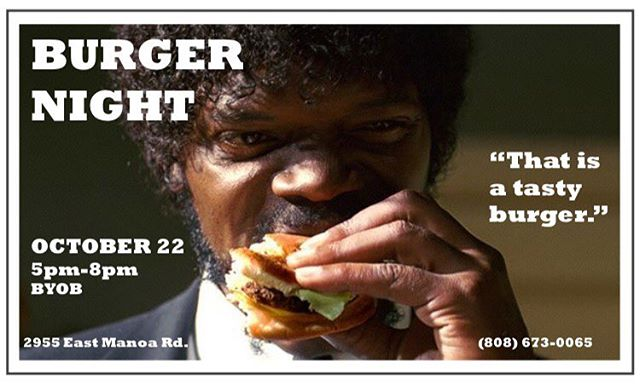 Next BURGER NIGHT! 10/22 Sunday (5-8pm) Mark your calendars! 🍔🍔🍔#doyouknowwhattheycallaquarterpounderwithcheeseinfrance