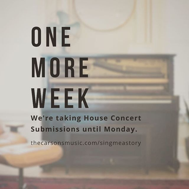 We've already got stops lined up in #AZ, #TX, #CA, #CO, #PA, and #FL! We'd love to add you to the list. We're taking submissions until Monday! Link in bio! . . . . #adventure2018 #homeconcert #tourlife #freeshow #husbandwife #duo #nashville #havecarwilltravel #toyotayaris #300kmiles #livemusic #anywhereyouwannago #endingpovertytogether #fh