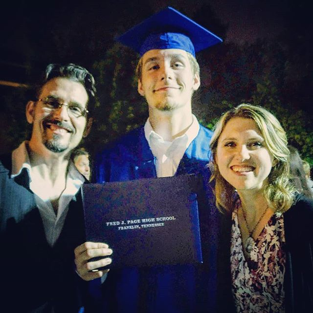 So proud of our very tall son!  #magnacumlaude #southpaw #pagepatriot #RedHawk