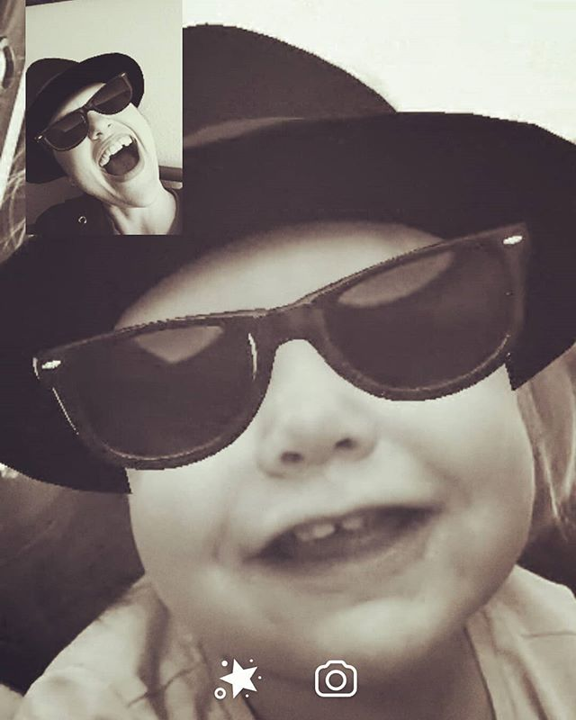 #highlight of the day! #messenger video chat with the #niece! . . . #ilovelucy #myniecehasstyle #ilovetechnology