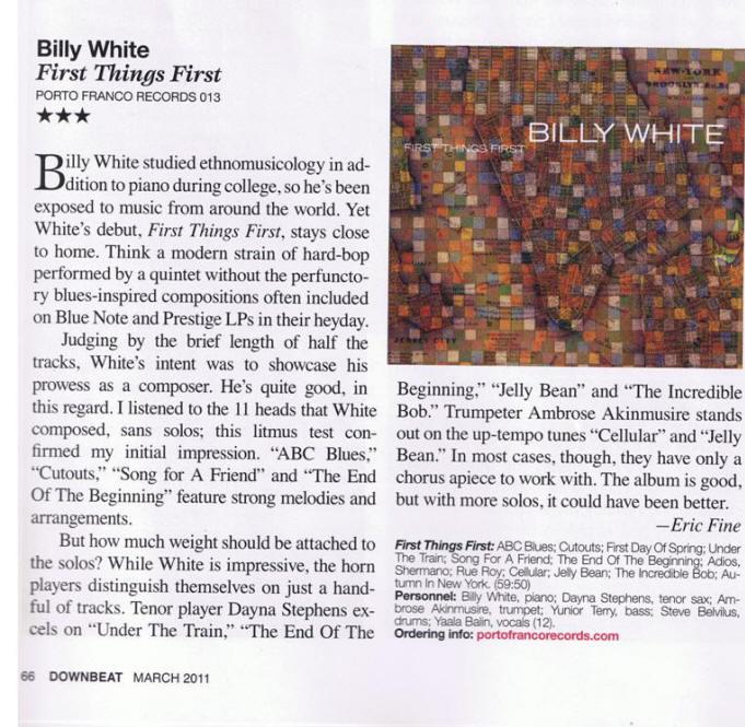 Down Beat Magazine March 2011