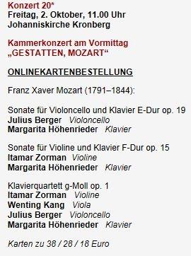 Mehr Infos hier: Kronberg Academy Festival 2015