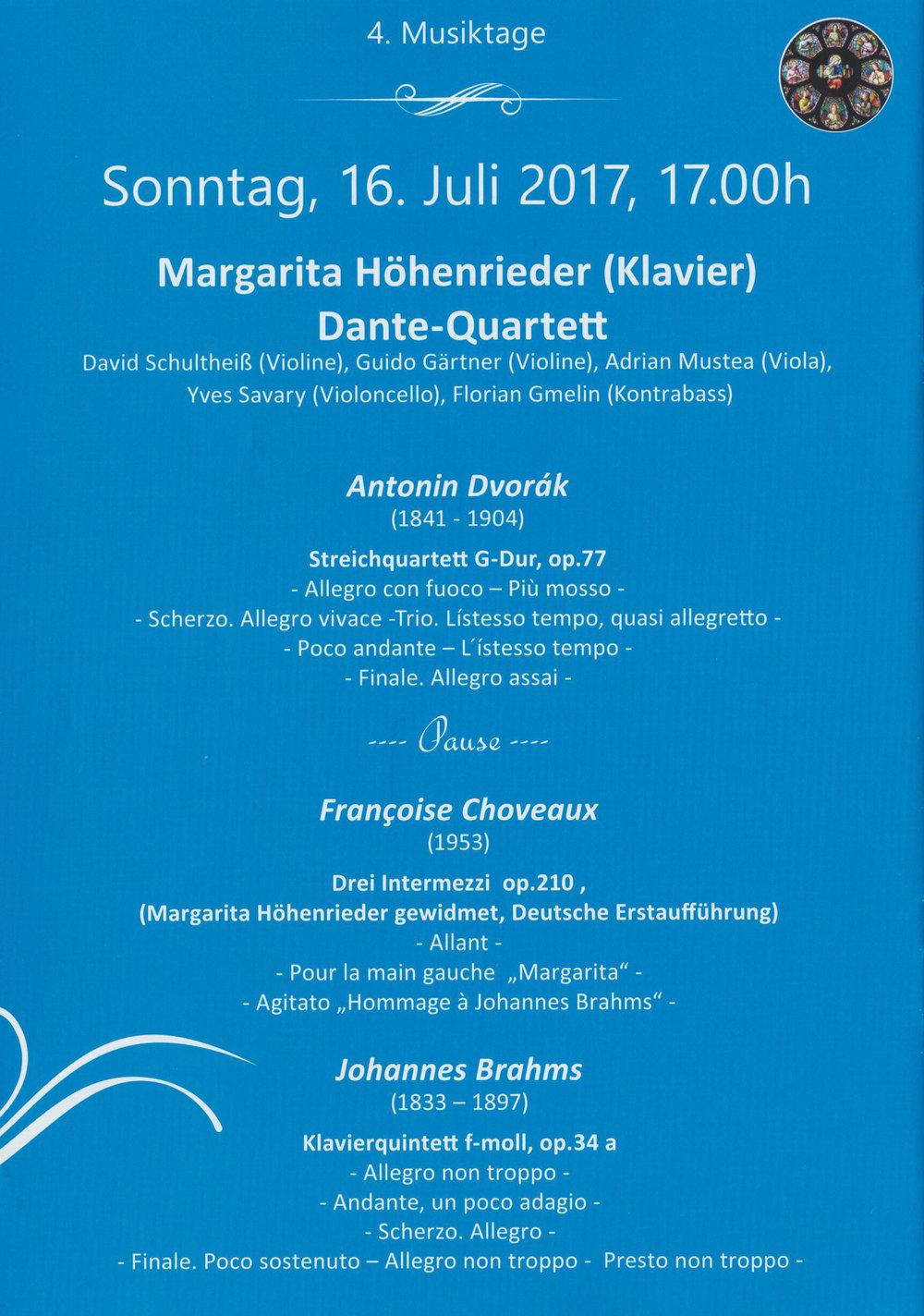 Das Dante-Quartett setzt sich aus Mitgliedern des Bayerischen Staatsorchesters zusammen .
