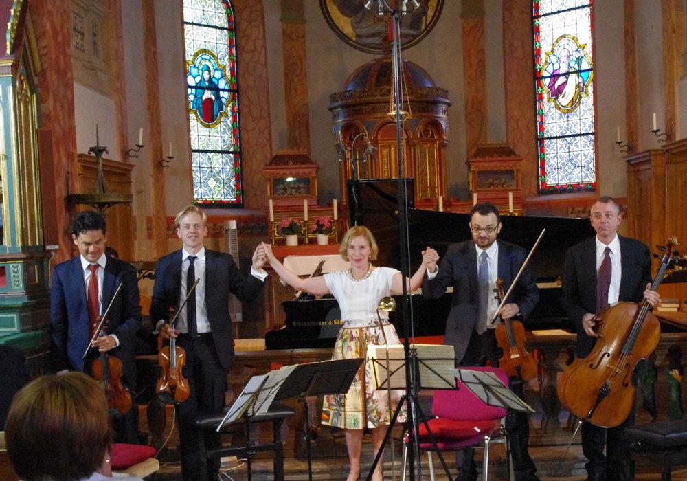 v.l. David Schultheiß, Guido Gärtner, Margarita Höhenrieder, Adrian Mustea, Yves Savary Foto: Monika Dittmar