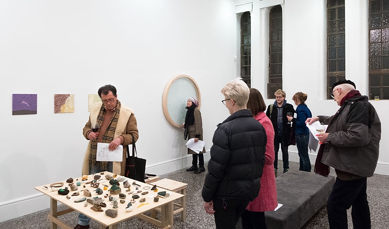 Eden Arts Art School Awards Show at Gus Fisher Gallery, Background: Jasmine Te Hira - Atmospheric Conditioning