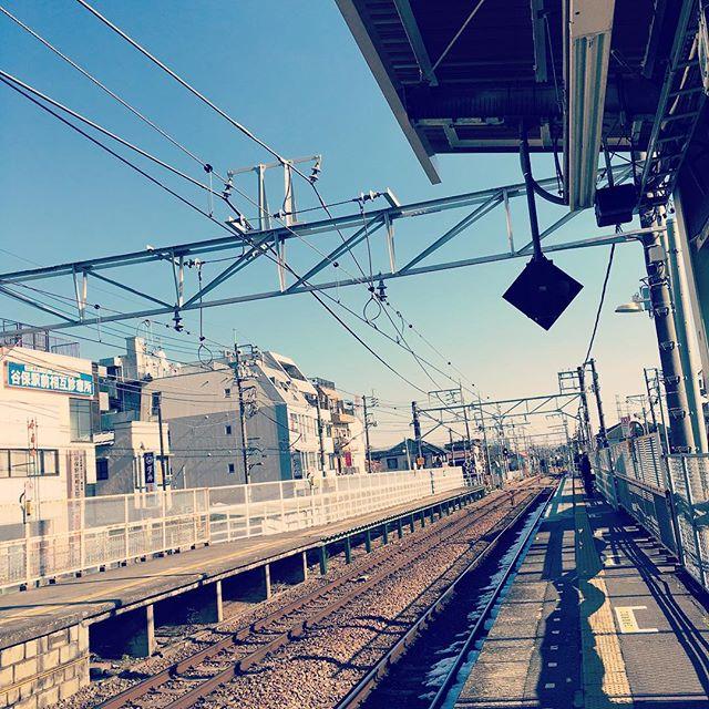 乗り過ごした…  #train #station #bluesky #missedmystop