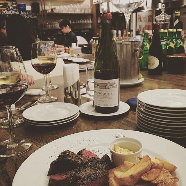#bisトロタカギ #bistro #niku #friedpotatoes #redwine #instafood #肉
