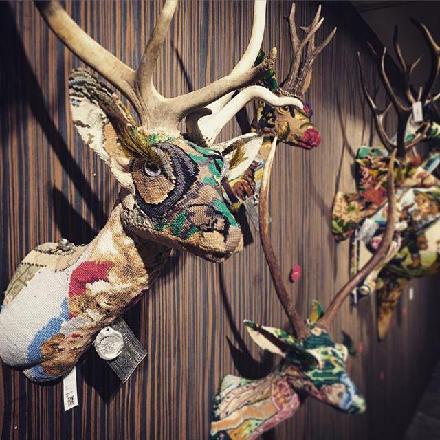 #frederiquemorrel #walldecor #enbroidery #needlework #deer #interiors #decor #aoyama