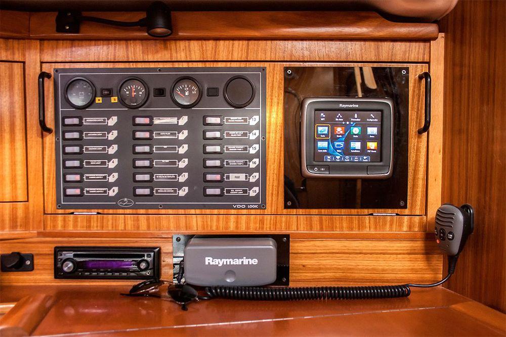 Panel de control del barco