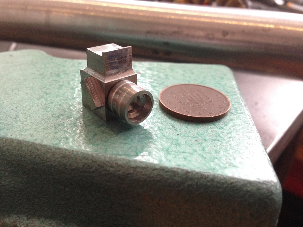 Miniature camera and lens completed, all hand machined