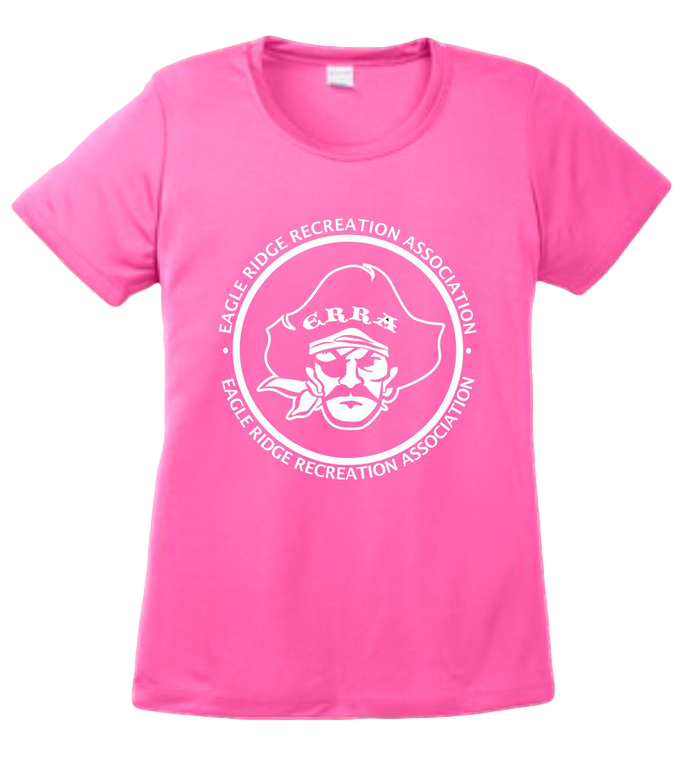 Woman's Wicking Tee  $16.00     Lightweight, roomy and highly breathable.   3.8-ounce, 100% cationic polyester interlock with r  emovable tag for comfort. Available in youth and adult sizes.