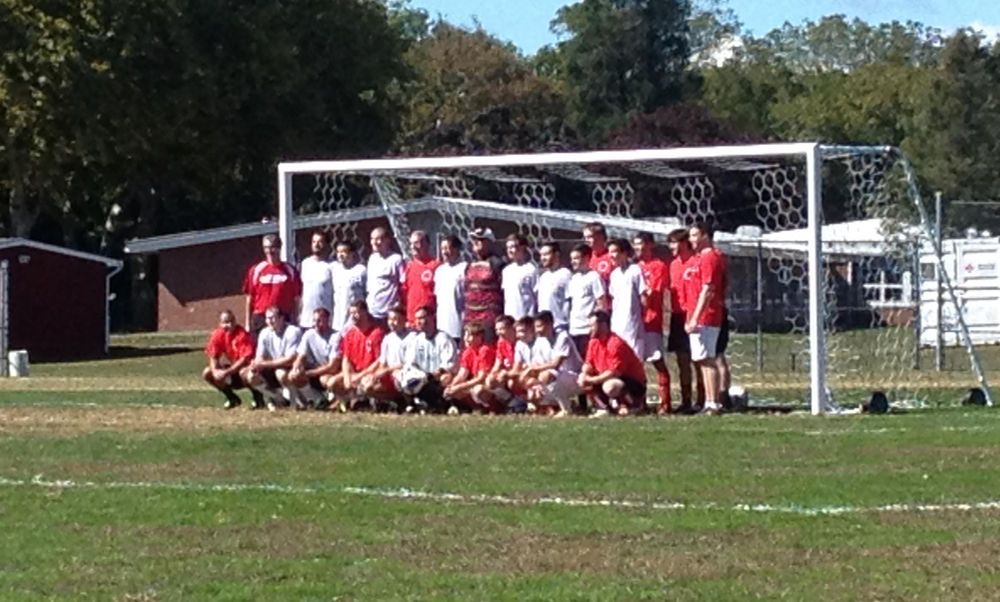 Participants in the 6th Annual Alumni Soccer Game 2013.