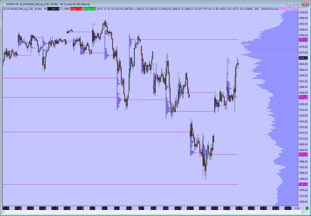 RTH 30 mins with Volume Profiles