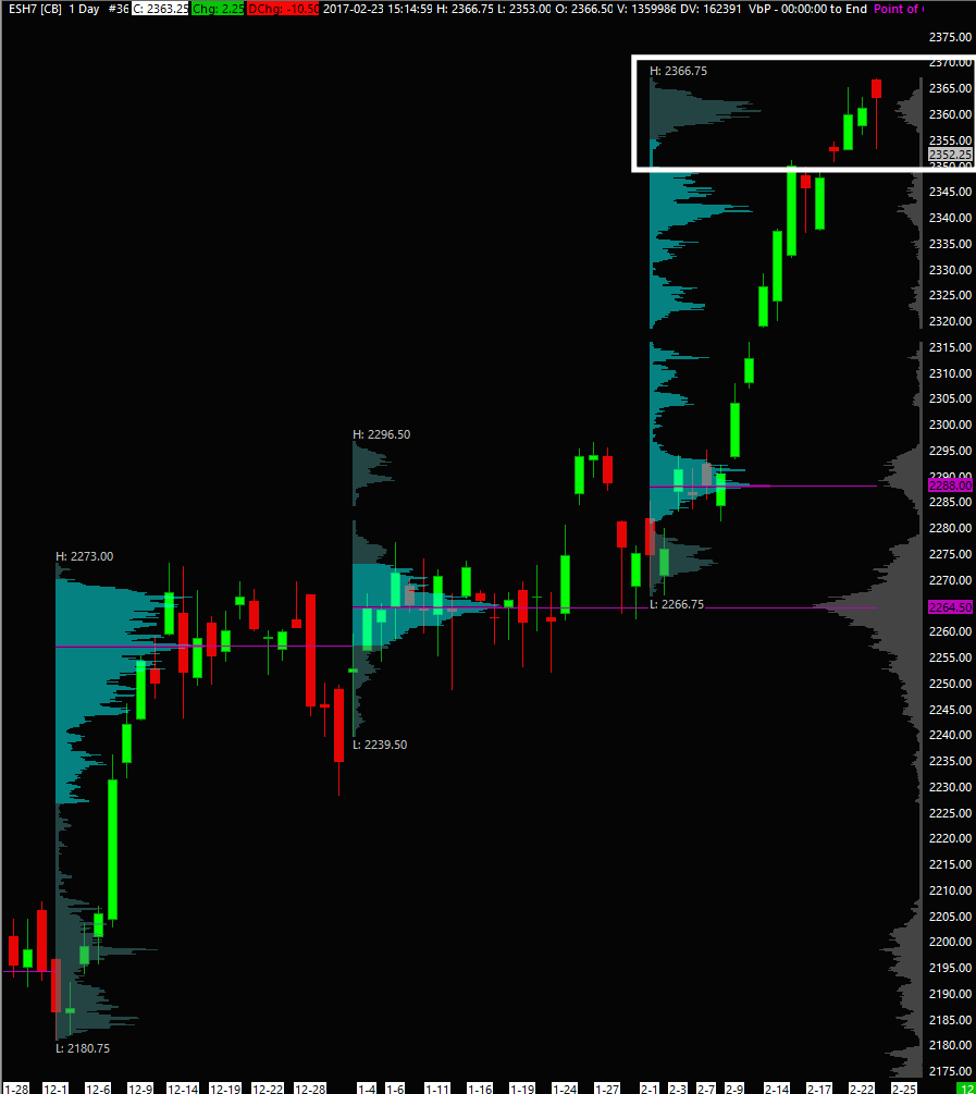 RTH Daily with Monthly Volume Profiles & 1500 day composite