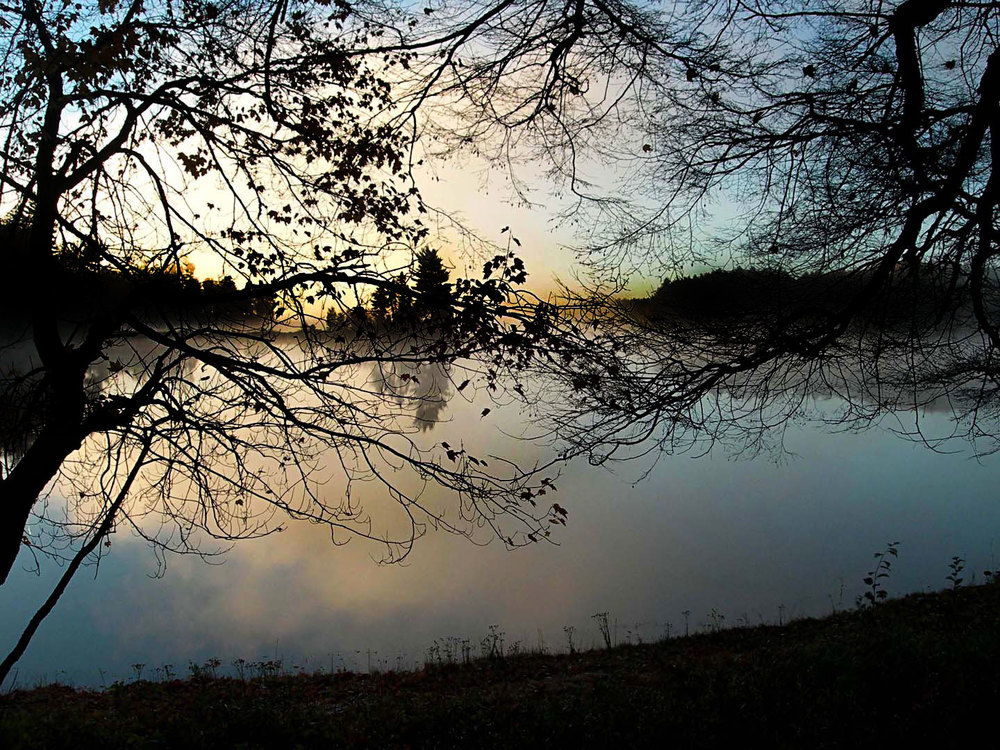 Clark Lake at dawn following our coffee