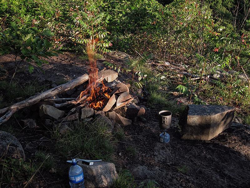 Campfire after supper