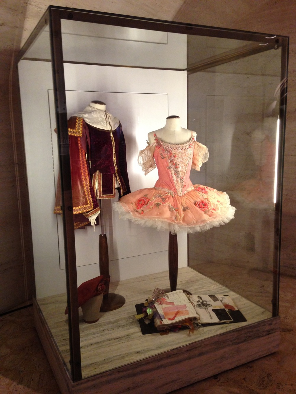 Display cases in the Koch Theatre at Lincoln Center- Assisting with the commissioning of the custom-designed cases as well as the rotating displays were one aspect of Tracey's role as the assistant to the costume director.