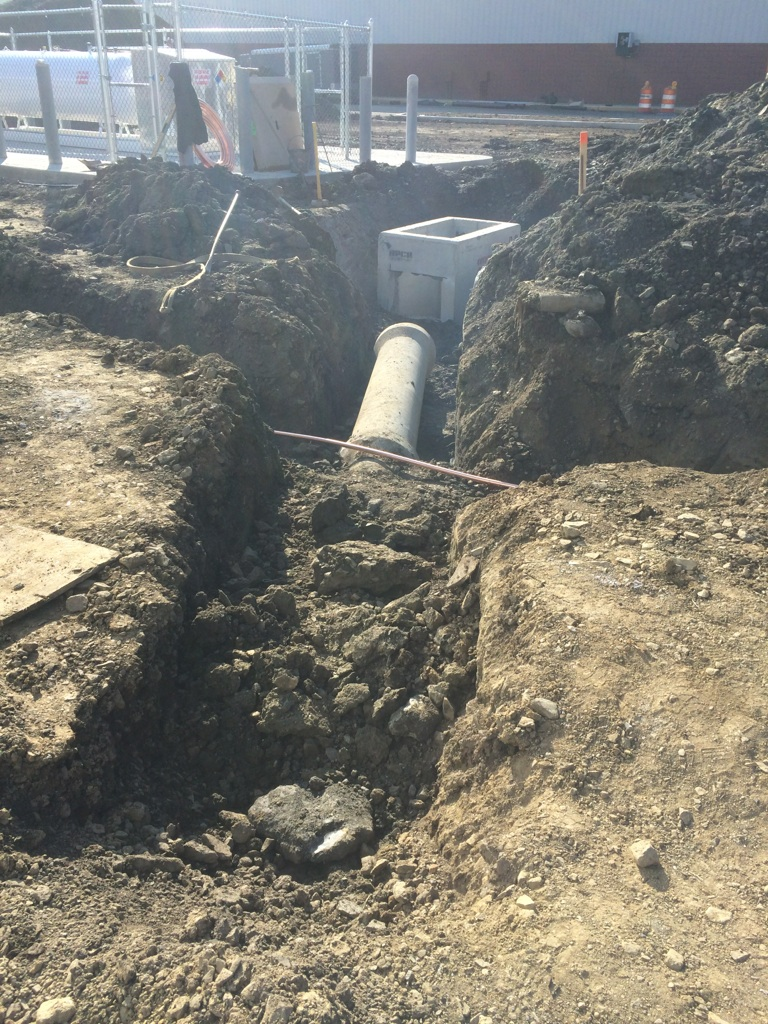 B J's - Water Line Over Storm Sewer