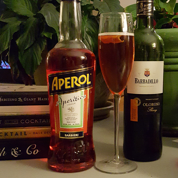Aperol, sherry, and prosecco are three good points that make a great cocktail.