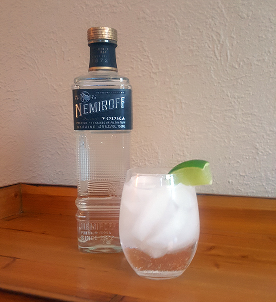 The traditional vodka and soda.