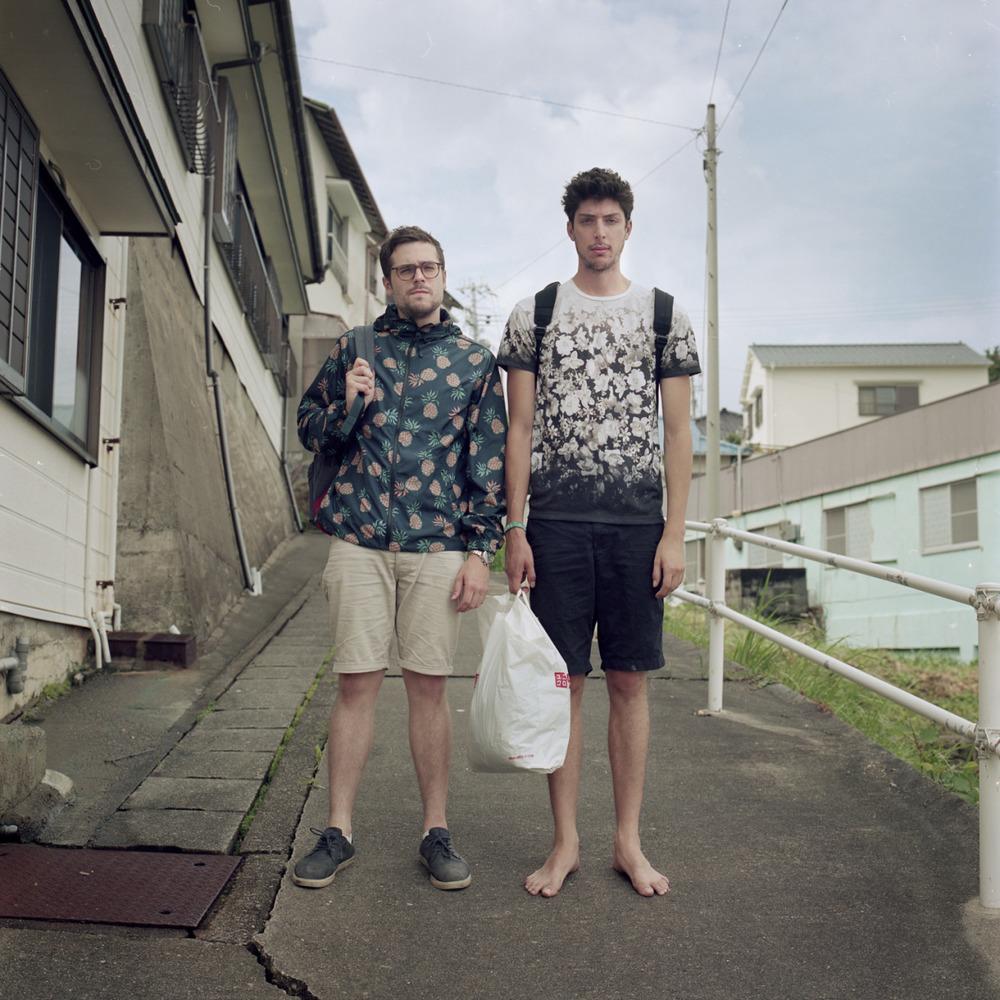 Wakayama, Japan. Jake Lost his shoes the night before.