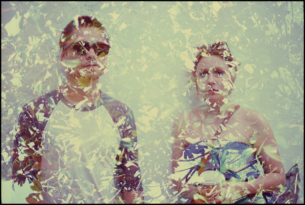 Siblings in Savannah - Double exposure