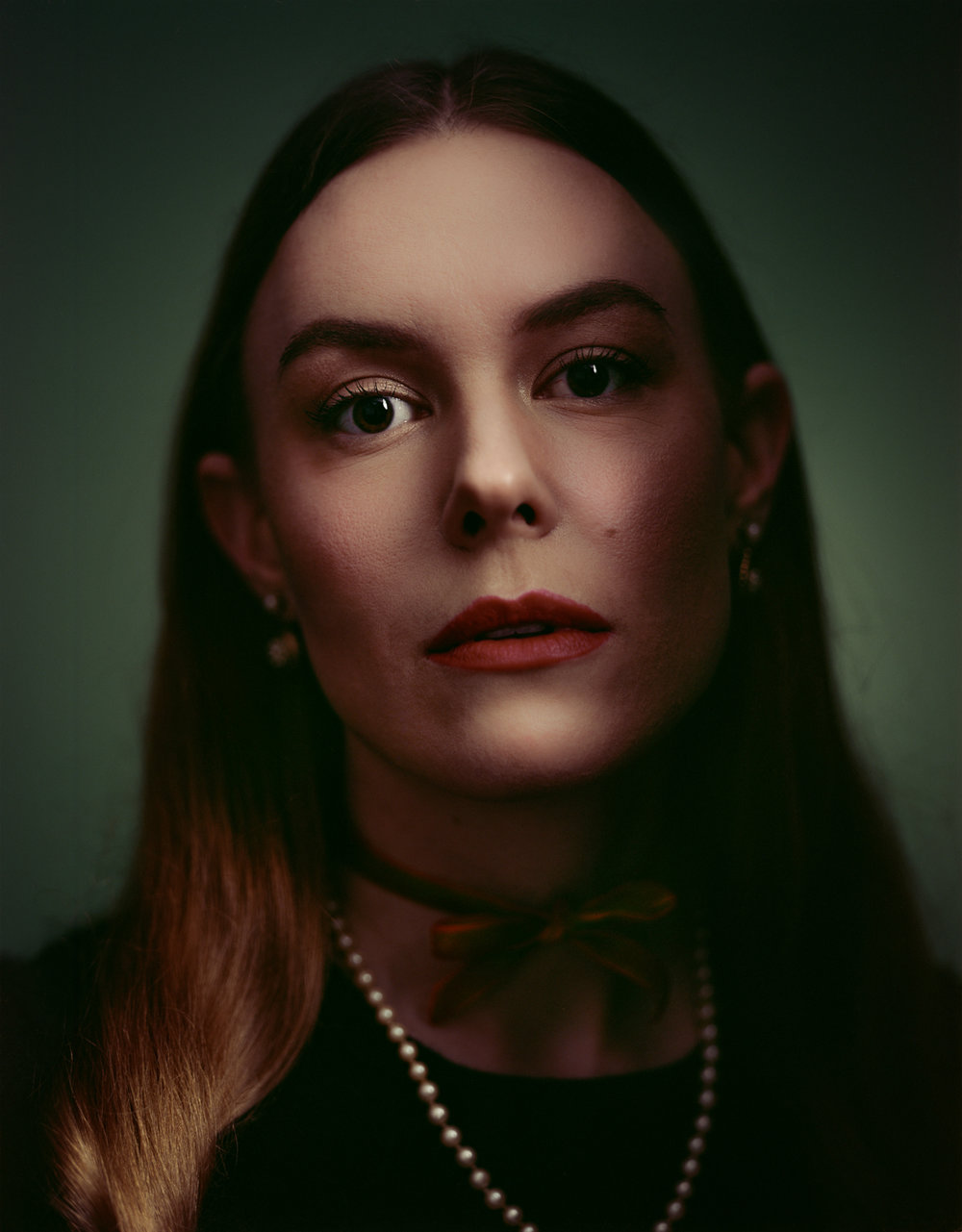 Large Format portrait of  Madalyn Knebel , also styled by Madalyn as well.