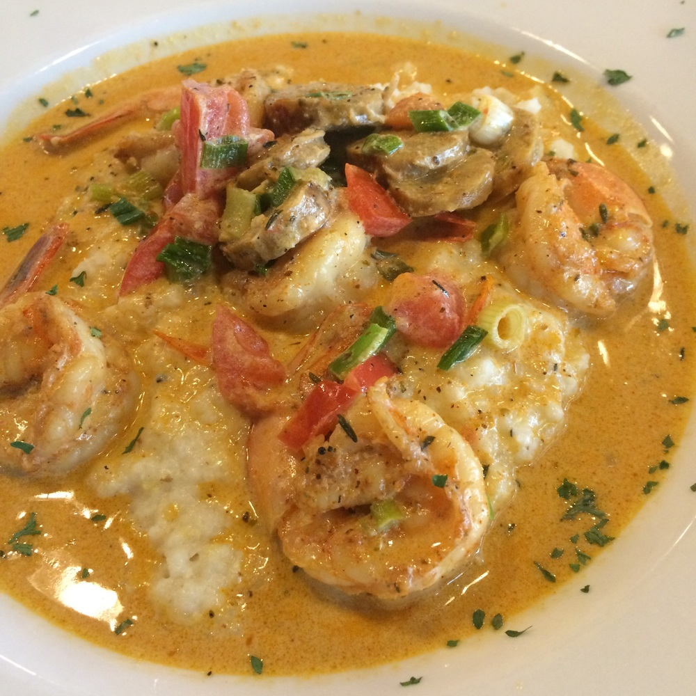 Shrimp and Grits at the Sweet Auburn Seafood