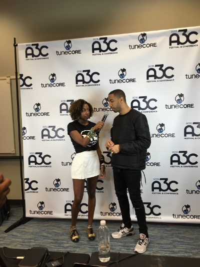My curiosity pays off every time!  Here I am last week interviewing Ryan Leslie at the A3C Music Festival.