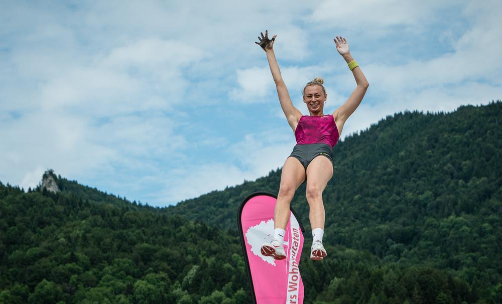 Die Siegerin mit Ihrem Siegsprung - Lisa Ryzih