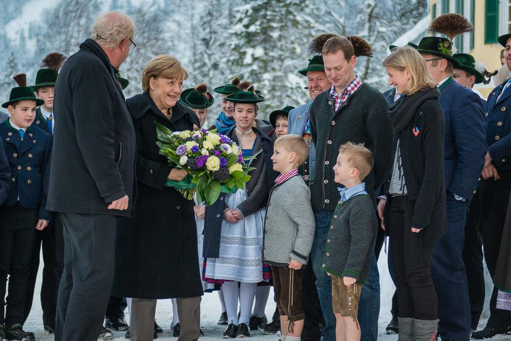 Frau Merkel bei der CSU Klausurtagung 2016 in Wildbad Kreuth.