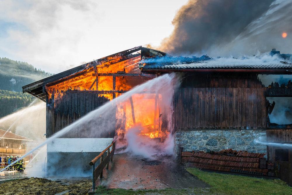 Brand eines Bauernhofs in Kreuth.