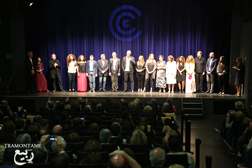 The production team on stage for the World Premiere