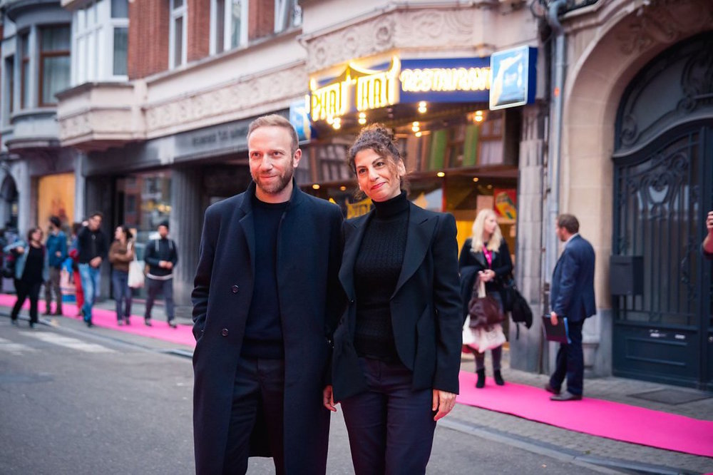 Pink carpet at the Namur Film Festival in Belgium, right before the award ceremony