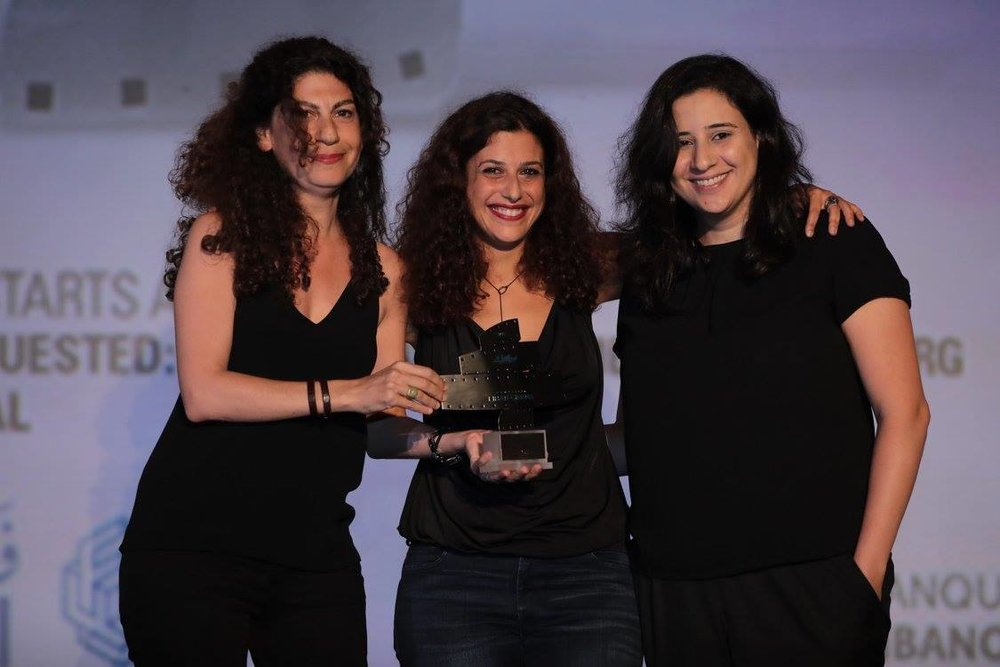 (From L to R) Cynthia Zaven, Rana Eid and Lama Sawaya