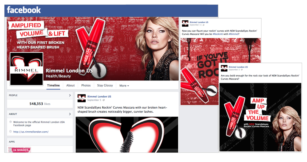 Rimmel Rockin' Curves Facebook Content